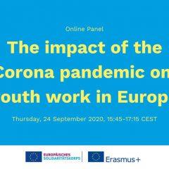 Spletna razprava o vplivu pandemije na mladinsko delo v Evropi