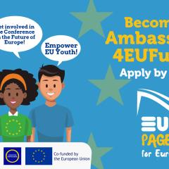 Razpis za mlade ambasadorje projekta EUth Pages for Europe